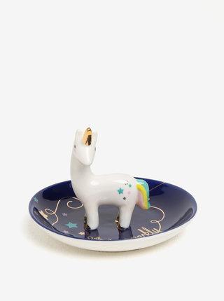 Tmavě modrá miska na šperky s motivem jednorožce Disaster Candy Pop
