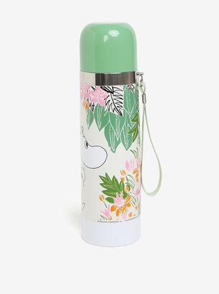 Svetlozelená kvetovaná termoska s motívom Mumínkov Disaster Moomin