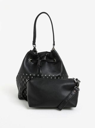 Čierna vaková kabelka s malou kabelkou 2v1 Bessie London