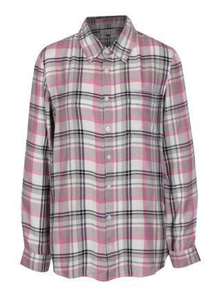 Ružovo–krémová kockovaná košeľa Blendshe Riri