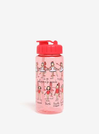 Červená holčičí láhev s potiskem Tyrrell Katz Ballet