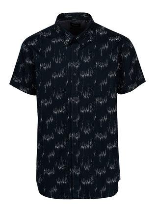 Tmavomodrá pánska vzorovaná košeľa Broadway Iniesta