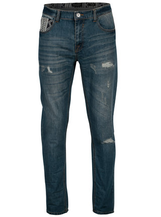 Modré pánské slim džíny s potrhaným efektem Broadway Ryan