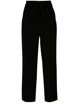 Čierne nohavice s vysokým pásom VILA Blamy