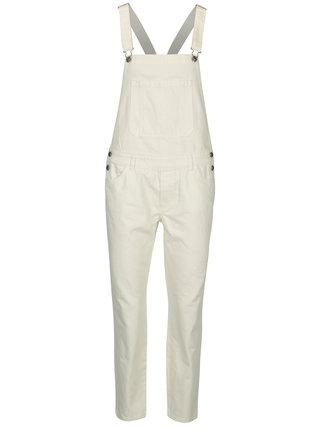 Krémové rifľové nohavice na traky ONLY Nirvana