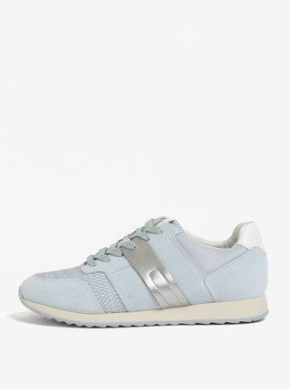 Pantofi sport bleu din piele intoarsa pentru femei Geox Deynna