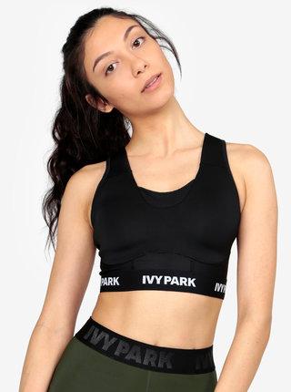 Černá sportovní podprsenka se síťovanými částmi Ivy Park