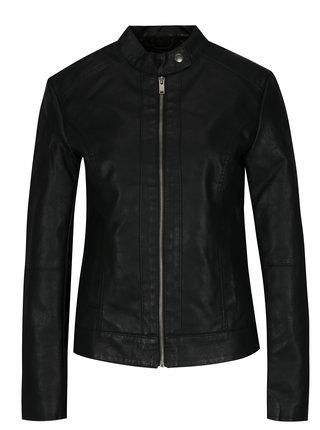 Černá koženková bunda Jacqueline de Yong Dallas