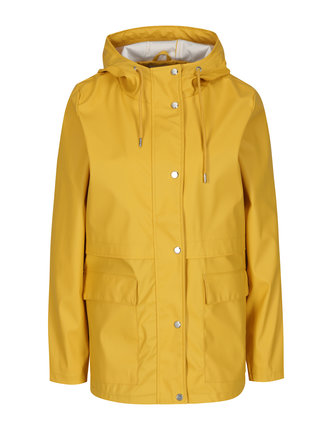 Žlutá voděodolná bunda s kapucí ONLY