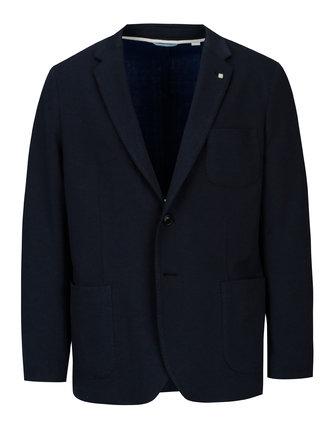 Tmavomodré pánske úpletové sako GANT