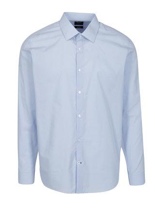 Světle modrá slim fit formální košile Burton Menswear London
