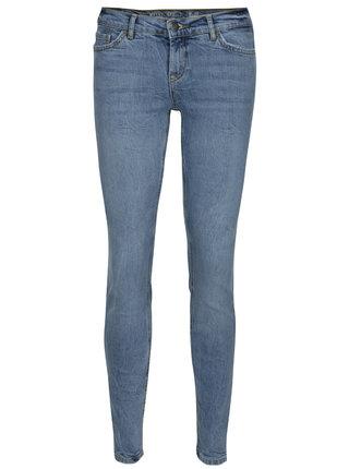 Světle modré slim džíny s nízkým pasem Noisy May Eve