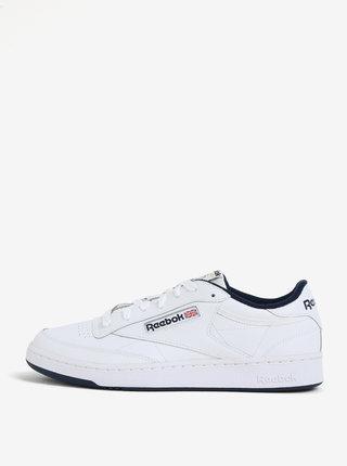 Biele kožené tenisky Reebok Classic Club C 85