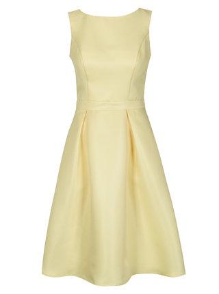Žluté šaty s krajkou na zádech Chi Chi London Noelie