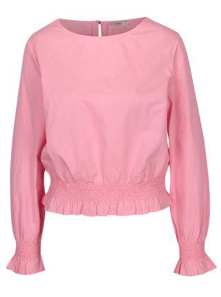 Bluza lejera roz cu terminatii elastice - ONLY Maia