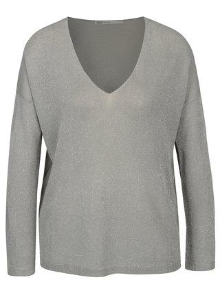 Šedý lehký třpytivý svetr ONLY Geena