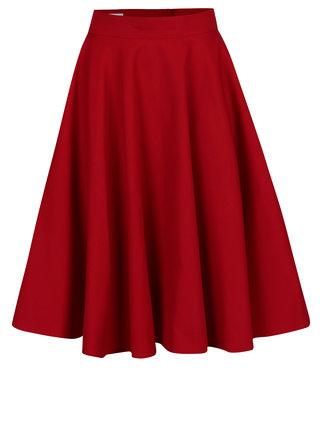 Červená kolesová sukňa MONLEMON Lantern