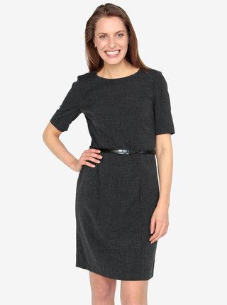 a0989305d Tmavosivé melírované šaty VERO MODA Olivia
