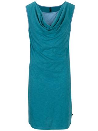 Tyrkysové šaty s nazberkaním v dekolte Tranquillo Aurea