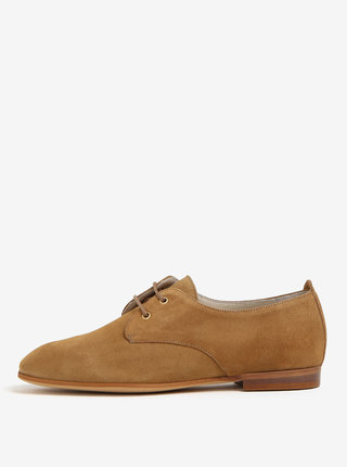 Pantofi maro din piele intoarsa OJJU