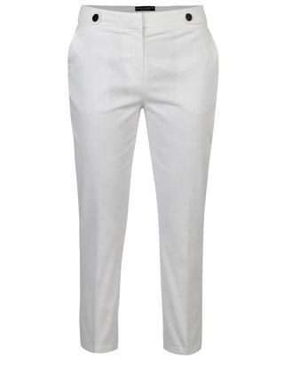 Bílé zkrácené kalhoty Dorothy Perkins