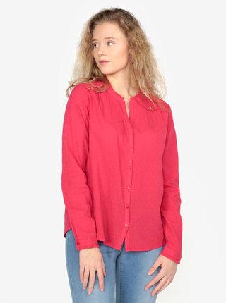 Camasa roz cu guler tunica si picouri pentru femei - s.Oliver