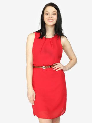 Červené šaty s páskem Haily´s Tanja