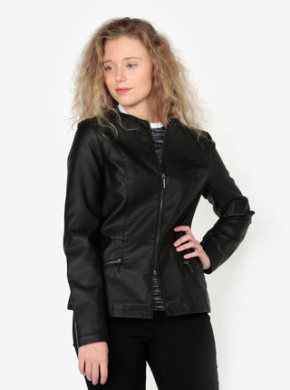 Černá koženková bunda Oasis Faux