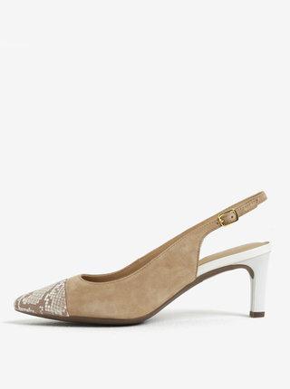 Pantofi maro din piele intoarsa Geox Bibbiana
