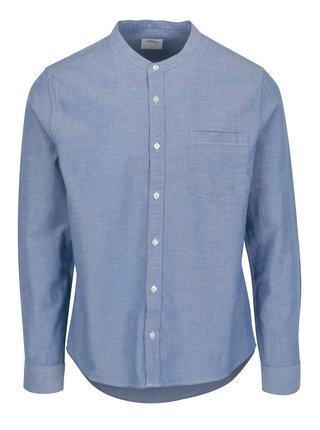 Camasa albastra cu guler tunica - Burton Menswear London
