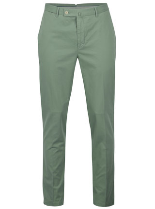 Svetlozelené slim chino nohavice Hackett London