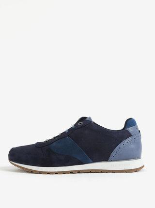 Pantofi sport bleumarin din piele intoarsa - Ted Baker Shindls