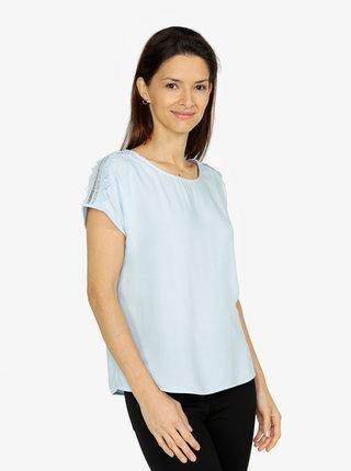 Bluza albastra cu broderie pe umeri - VERO MODA Lacey