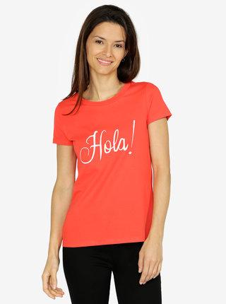 Červené tričko s výšivkou VERO MODA Lola