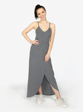 Rochie maxi gri inchis in dungi Superdry