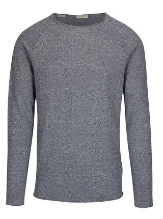 Modrý melírovaný tenký sveter Selected Homme Clash
