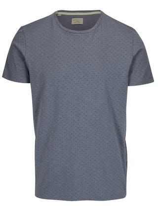 Modré tričko s jemným vzorom Selected Homme Kris