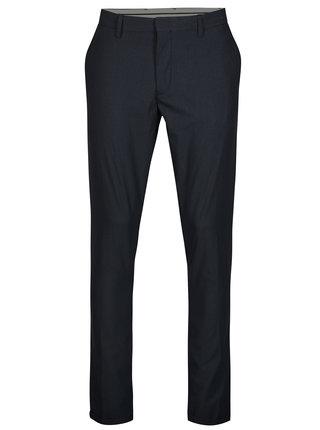 Pantaloni bleumarin cu model discret - Selected Homme Skinny-Nate