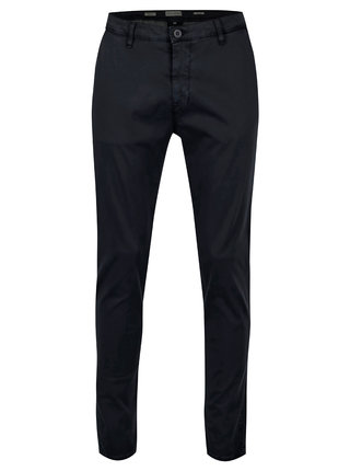 Pantaloni slim fit bleumarin din bumbac - Casual Friday by Blend