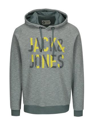 Hanorac verde melanj cu logo brodat - Jack & Jones Caden