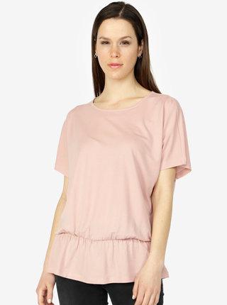 Tricou roz deschis cu elastic la talie - VERO MODA Costa