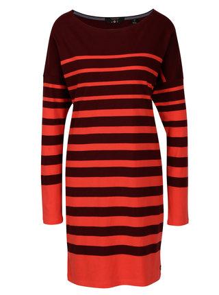 Červeno-vínové pruhované šaty Scotch & Soda