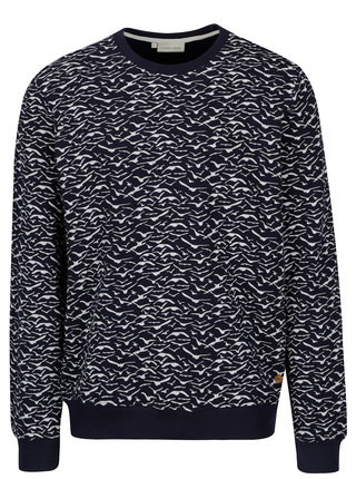 Bluza sport bleumarin cu print pasari stilizate -  Casual Friday by Blend