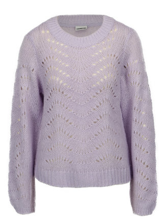 Pulover cropped violet din tricot - Noisy May Tabby