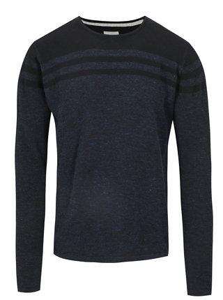 Tmavě modrý lehký slim fit svetr Blend