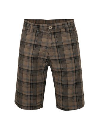 Pantaloni scurti maro in carouri pentru barbati LOAP Velut