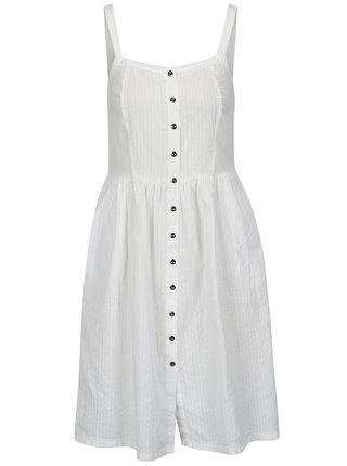 Biele šaty na ramienka s gombíkmi Blendshe Sersa