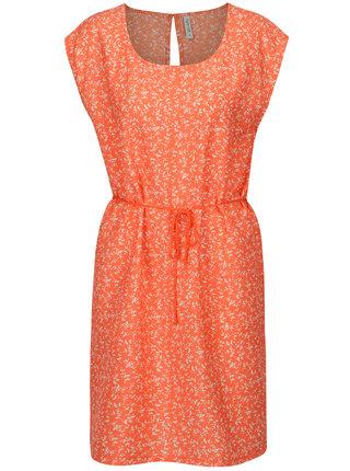 Oranžové šaty s drobným vzorem Blendshe Mally