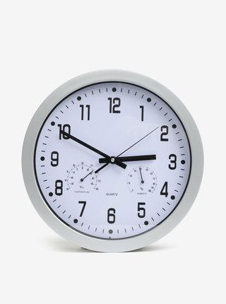 Okrúhle nástenné hodiny v striebornej farbe Kaemingk