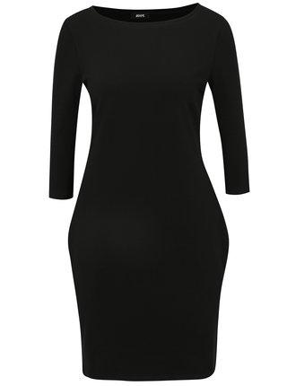 Černé basic šaty s 3/4 rukávem ZOOT